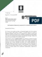 Carta Fiscal a MinDefensa por abuso policial