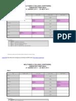 Jadual Pelajar 21 March 11~10 Jun 11