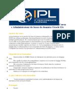 IPL-Cursus Administrateur de Bases de Données Oracle 12c