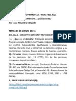 DERECHO PRIVADO TEMAS 23 DE MARZO  2021