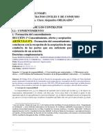 20 CONTRATOS TEMA ELEMENTOS. FORMACION DEL CONSENTIMIENTO