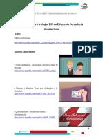Recursos para el aula ESI (recursero) - Secundaria