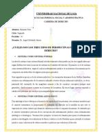 FORO 3 CUALES SON LOS TRES PERSPECTIVAS DEL SISTEMA DE DERECHO