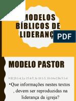 1. Modelos bíblicos de liderança