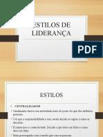 4. ESTILOS DE LIDERANÇA