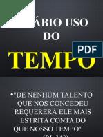5. O SABIO USO DO TEMPO