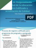 Sistemas de Aseguramiento de la calidad de la.2013 ppt