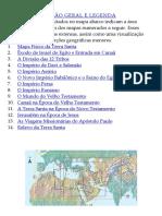 BÍBLIA PE EDNALDO Indice Dos Mapas Da Biblia Completo
