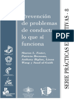 Sharon L. Foster. (2006) PREVENCIÓN DE PROBLEMAS DE CONDUCTA - LO QUE SÍ FUNCIONA