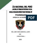 Silabo Código Penal I PNP