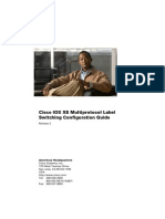 Cisco IOS XE Multi Protocol Label Switching Configuration Guide, Release 2