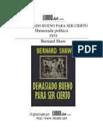 Demasiado bueno para ser cierto-Bernard-Shaw