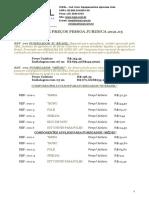 Lista de Preços 2021v5 - Jurídica
