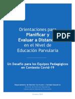 Orientaciones Para Planificar y Evaluar a Distancia EP