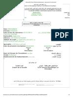 UNiversité d'Oran 2 Mohamed Benahmed _ Impression de La Demande