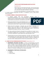 EDUCAÇÃO DOS FILHOS RESPONSABILIDADE DOS PAIS