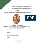PLAN DE NEGOCIO PEARL´S COFEE