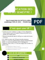 Presentation UE S1
