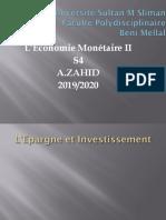 Economie Monétaire II Partie VII-4