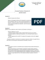 Monétaire II Question Réponse 2
