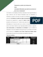 Presentación y análisis de la información