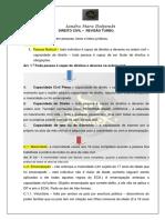 Revisão Turbo - Direito Civil 1