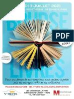 Flyer Bourse Aux Livres Médiatheque 3 Juilllet 2021