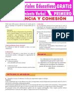 Ejercicios de Coherencia y Cohesión Para Primer Grado de Secundaria