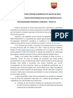 01 PLANO DE AÇÃO PARA ATENDER ACADÊMICOS DO GRUPO DE RISCO NO PROTOCOLO DE RETOMADA DAS AULAS PRESENCIAIS PÓS-GRADUAÇÃO