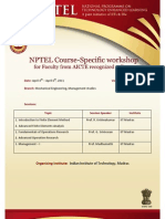 NPTEL workshop announcement