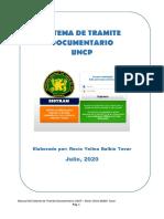MANUAL DE SISTEMA DE TRAMITE DOCUMENTARIO UNCP