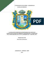 TRABAJO DE INVESTIGACIÓN - PRINC. DE OPRTUNIDAD  - CONDUCCION EN ESTADO DE EBRIEDAD - DISMINUCIPON DE LA CARGA PROCESAL  - FPC - CHALHUANCA - 2020 A JULIO DEL 2021