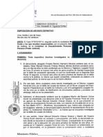 Disposición Archivo Definitivo 31 May 2021; Carpeta Fiscal 831-2019. Fiscal FIGUEROA CORTEZ - Caso Encubrimiento Personal