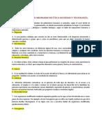 GUÍA PARA EXAMEN ORDINARIO DE ÉTICA SOCIEDAD Y TECNOLOGÍA