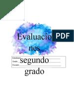 Evaluacion segundo grado