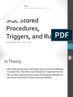 VII. SQL Stored Procedures, Triggers, and Rules