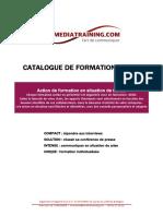 Catalogue de Formations Media Training