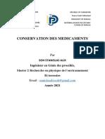 Conservation Des Médicaments