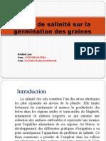 L'effet de salinité sur la germination des graines