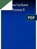 P-15 Operasi Unit Kontrol