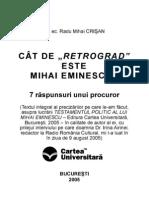 Biosociologie Eminesciana 7 Raspunsuri Unui Procuror
