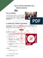 """DIA DEL CRISTIANO 2011 """"MAESTRES DE CALATRAVA"""""""