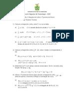 Avaliação 2 Integrais de Linha e Teorema de Green