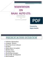 Presentation on bajaj 11