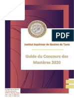 ISG Tunis Guide Masteres 2020
