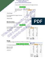 Statistics in Excel Maxima Value