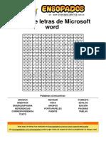Sopa de Letras de Microsoft Word