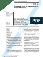 NBR 8160 - Sistemas prediais de esgoto sanitário - Projeto e execução