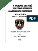 Silabo Desarrollado de Doctrina Policial PNP