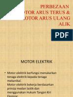 PERBEZAAN MOTOR ARUS TERUS & ARUS ULANG ALIK